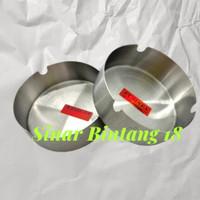 Asbak Bulat Stainless 8 cm