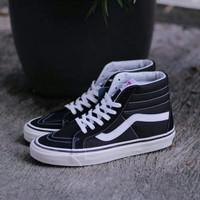 sepatu sneakers pria vans old skool black sk8 high ukuran 38 39 40 45 - Hitam, 38