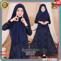 Baju Muslim Syari Anak Perempuan Cewe Lebaran 9 10 11 12 13 Tahun