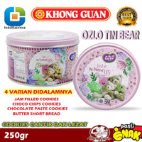 KHONG GUAN Ozlo Cookies Kalengan SNI Kue Kering 250gram - Biru