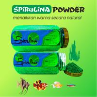 Makanan Serbuk Pelet Spirulina Powder Cupang Guppy Bukan Artemia NRD