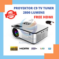 Projector Cheerlux C9 Mini LED Proyektor C9 2800 Lumens With TV Tuner