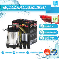 Pompa Air Celup Kolam Ikan Aquarium Aquascape Stainless AQURA ASP 2400