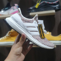 sepatu running adidas ultraboost 4.0 candy cane pink white