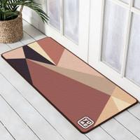 Keset Dapur / Karpet Lantai 50x120cm Anti Selip YUME Motif Geometric