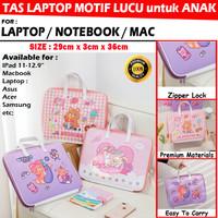 Tas Laptop Sleeve Pouch Macbook Asus iPad Anak Lucu 11 12 13 14 Inch