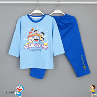 Baju Tidur Setelan Panjang Panjang Doraemon L-980 / PTP size 14-16-18 - Size 14