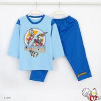 Baju Tidur Setelan Panjang Panjang Ultraman L-979 / PTP size 8-10-12 - Size 12