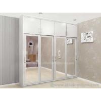 Lemari pakaian minimalis 4 pintu geser / sliding door unit model alpen