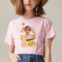 Baju Kaos Tshirt Atasan BTS JIMIN Dynamite BT21 Cewek Wanita Oversize