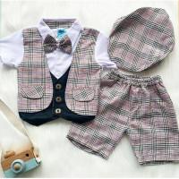 baju setelan anak - setelan tuxedo bayi cowok laki murah