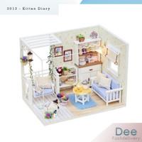 Dollhouse living room 3D DIY House - 3013 - set miniatur rumah
