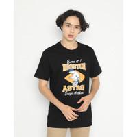 Kaos Pria Erigo T-Shirt Houston Astros Cotton Combed Black