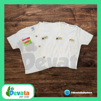 3 Buah Baju Bayi Pendek (Uscita) - Putih