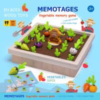 Vegetable memory game - Mainan edukasi panen wortel kayu