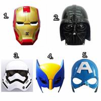 Topeng Nyala Iron Man Star Wars Wolverine X-Man Captain America