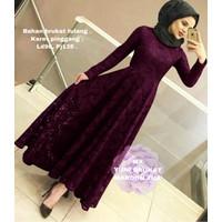 MAXI YUNI BRUKAT MAROON [Hijab 0121] SCF Baju Gamis Wanita Terbaru