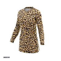 Kaos Baju Jersey Sepeda Model Tunik Motif Macan Tutul Wanita BAD218