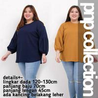 pnpcollectioBlouse Jumbo Seruna Lengan Serut Baju Wanita Batik Bigsize - 5127 Army
