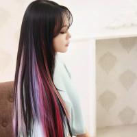 HAIRCLIP WARNA wig hair clip colour highlight rambut sambung palsu ext