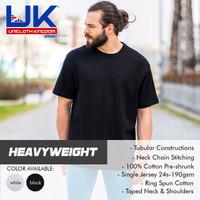 Kaos Baju Polos HEAVYWEIGHT Cotton UK Unicloth Kingdom Apparel S M L - Putih, S