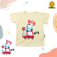 Himawari Baju Kaos Bayi / Kaos Anak Unisex Premium - DIG DIG CAR, S (1-2 TAHUN)