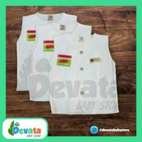 3 Buah Baju Bayi Lgn Buntung (Uscita) - Putih