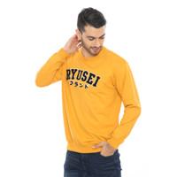 Sweater Pria Ryusei Swt Men Shinagawa Yellow