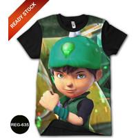 Kaos Boboiboy Crystal Baju Boboiboy Galaxy 3D DEWASA #REG-635