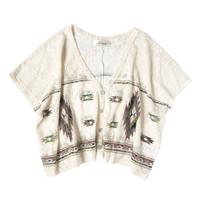Blus Crop Top Bolero Renda Lace Brokat Batwing Kelelawar Tribal Import