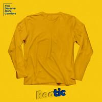 Reatic Kaos Polos Lengan Panjang Cotton Heavyweight - Kuning
