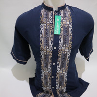 Grosir Baju Kemeja Koko Pria Dewasa Muslim Lengan Pendek Bordir Tasik