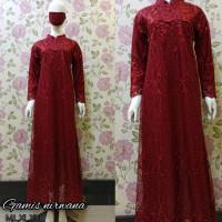 Kebaya Gamis Rample Tille Brokat Modern Baju Seragaman Pesta Kondangan