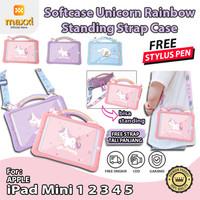 iPad Mini 1 2 3 4 5 Unicorn Kids Softcase Kartun Motif Lucu Case Anak