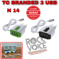 Charger Hp Android Branded N14 3 USB Port