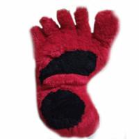 bantal bulu rasfur jumbo karakter bentuk kaki