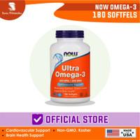 Now Foods Ultra Omega-3 500 Epa 250 Dha 180 Softgels Fish Oil