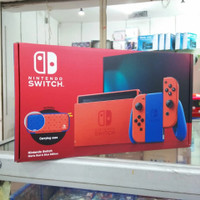Nintendo switch v2 console blue red mario limited edition