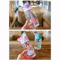 Botol Minum Anak 480ml Botol Air Sedotan Motif Animal Sea Ocean