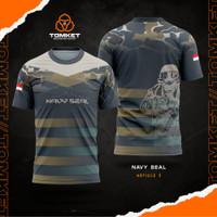 Kaos Navy Seal  Jersey Navy Seal  Baju Navy Seal v3 - S, Pendek