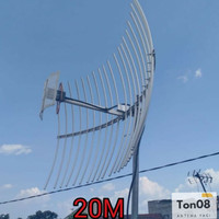 antena yagi grid penguat sinyal Hp,mifi,Modem 3G,4G, Kabel 20M