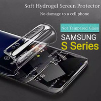 Anti Gores Hydrogel Samsung S7 Edge S8 S9 S10 S20 S21 Plus + Ultra FE