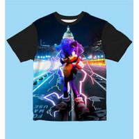 Baju Kaos Anak Laki-Laki Dan Perempuan Sonic Back Building