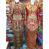 Baju pengantin Minang bludru payet jepang