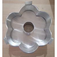 Loyang Kue Bolu Tulban Marmer Chiffon Aluminium Bunga Sakura