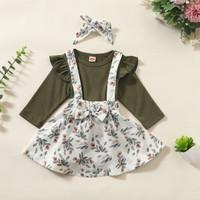 Baju Bayi Perempuan Setelan Bayi Perempuan Dress Bayi Dengan Bandana