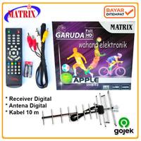 Paket Receiver + Antena Digital Tv Set Top Box Matrix Siaran Digital