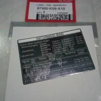 sticker stiker tulisan label tekanan ban vario 125 esp vari 150esp ori