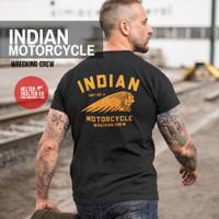 Kaos Indian Motorcycle Bikers Brotherhood Riders Retro Vintage - L