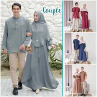 Baju Couple Pasangan Fashion Muslim Baju Lebaran Include Hijab
